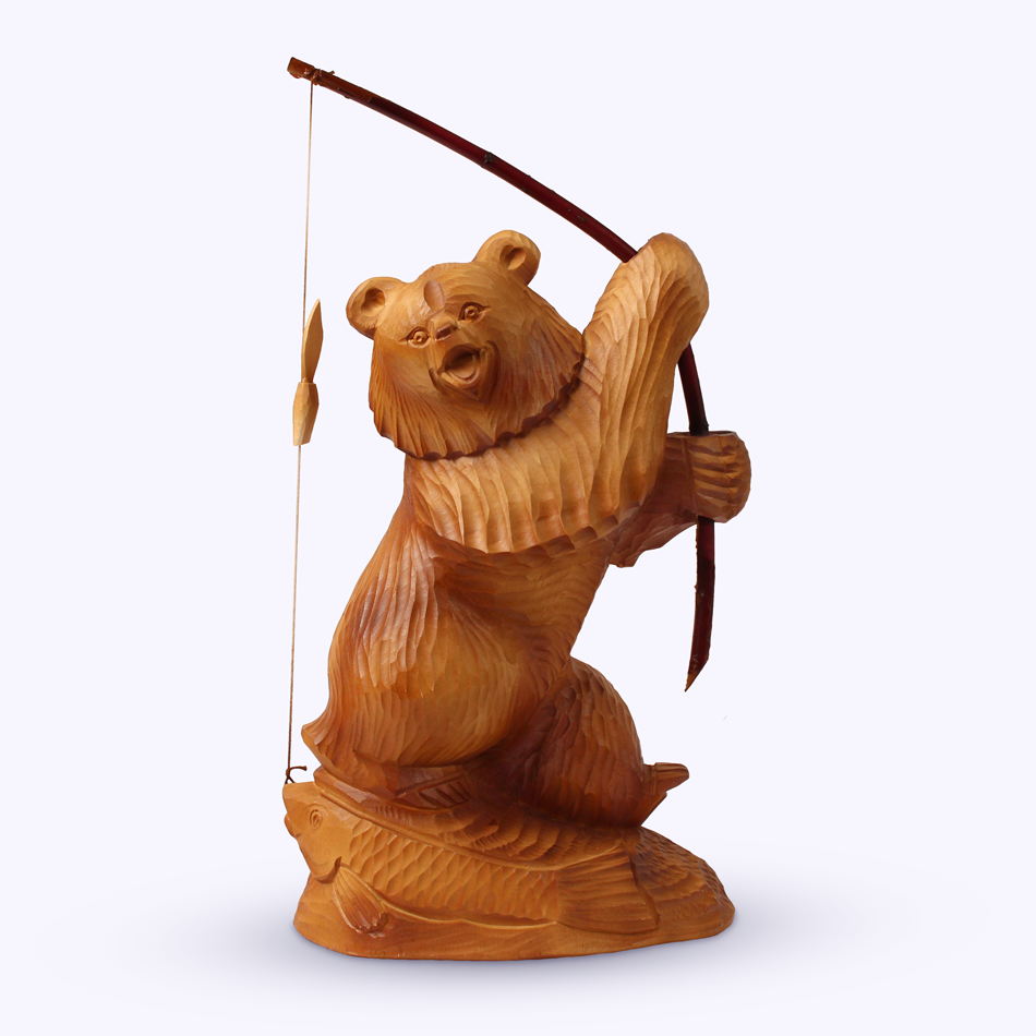 "Bogorodskaya toy / Wooden souvenir ""Successful fishing"""