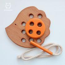 Lacing 'Hedgehog' - developing children's wooden toy