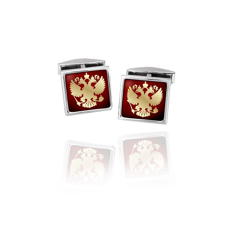 Rostov enamel / Cufflinks with the emblem of the Russian Federation