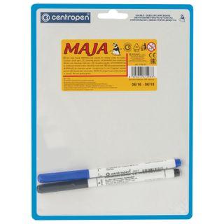 Bilateral marker Board SMALL (180x240 mm) A5, WHITE/LINE, 2 markers, CENTROPEN