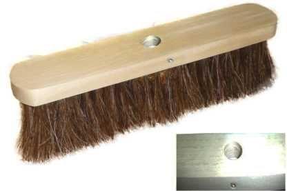 Torzhok brushware enterprise / C1 wooden floor brush without sleeve horsehair 320/4