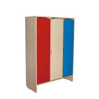 Khokhloma painting / Children's wardrobe, 1 section, 1630x286x340 mm