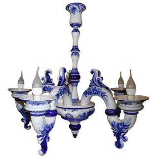 Chandelier Triumf 5-year-carob, Gzhel Porcelain factory