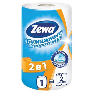 ZEWA / Household paper towel 2 in 1 white 2-layer, 30 m