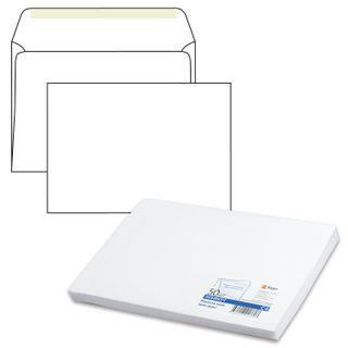 Envelopes C4 (229х324 mm), dextrin glue, white, 90 g/m2, the complete SET 50 pieces, inner sealing