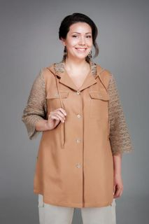 Blouson womens casual buttoned hooded
