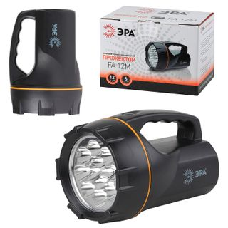 ERA / LED Flashlight FA12M, 12 x LED, rechargeable, charge from 220 V
