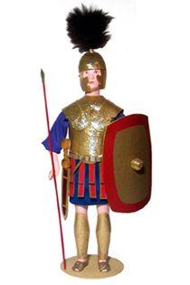 Doll gift. Triariy.The Roman Empire. The military uniform. 4 to 6 century BC.