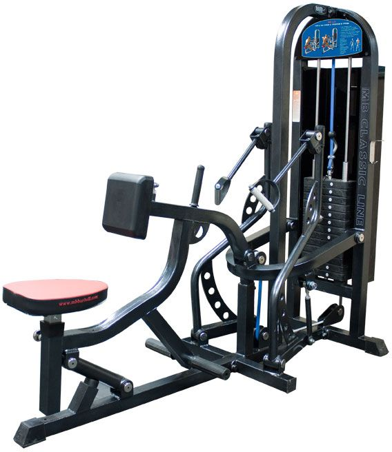 MB Barbell / Pulldown with an emphasis on the chest (weight stack)