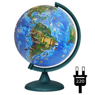 Children's globe with a diameter of 250 mm with backlight