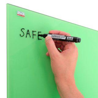 Board magnetic marker glass (60x80 cm), GREEN, OFFICE,