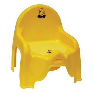 IDEA / Pot-highchair and pot-insert, plastic, 30x26x35 cm, yellow