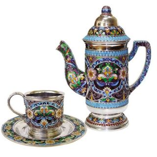 "Rostov enamel / Coffee set ""Festive"""