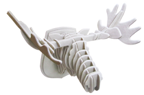 3D figure - Elk head KV White