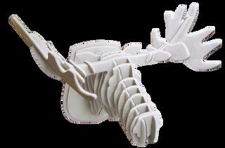 3D figure – the moose Head SQ White