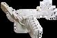 3D figure - Elk head KV White