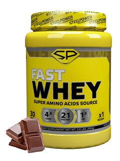 Whey protein SteelPower Fast Whey, 900 g, chocolate Classic