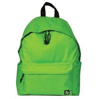 Backpack BRAUBERG, universal, city-format, single tone, light green, 20 litres 41х32х14 cm