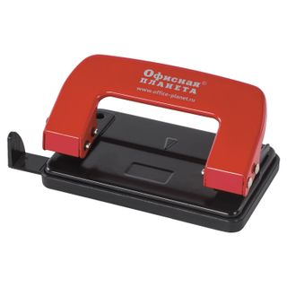 Hole punch metal OFFICE the PLANET, up to 10 sheets, red