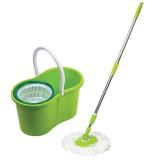 LIMA / Cleaning set - bucket 7 l / 5 l with wringer, mop with round nozzle (2 pcs., Fastening ring)