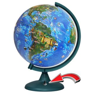 Children's globe with a diameter of 250 mm with backlight battery powered (battery NOT included!
