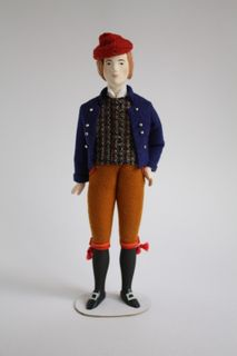 The male costume of the 20th century. Sweden. Doll gift