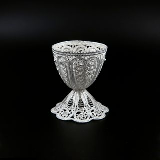 Kazakovskaya Filigree / Egg stand Morning silvering