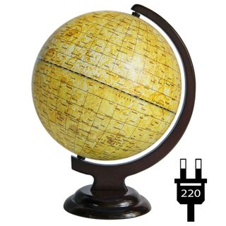 A globe of the moon 250 mm on a wooden stand with backlight