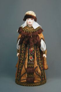 Doll gift porcelain. Princess in festive attire. 15-16 V. Rus.