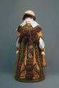 Doll gift porcelain. Princess in festive attire. 15-16 V. Rus. - view 1
