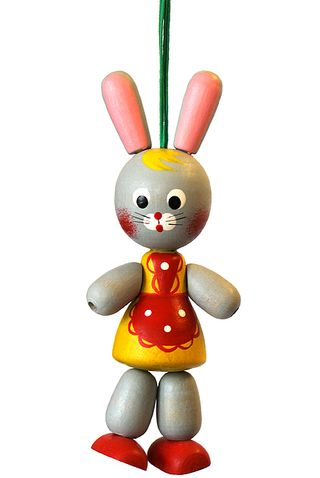 Figurine wooden Bunny