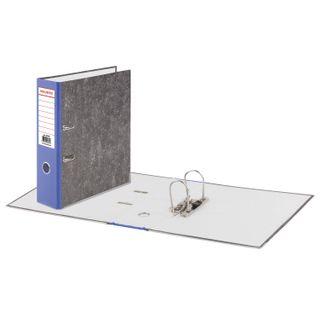 Folder-Registrar BRAUBERG, texture standard, with marble flooring, 80 mm blue spine
