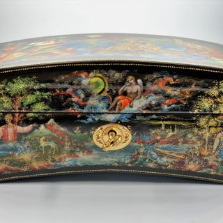 "The casket Palekh ""Crimean fancy"" master Burdakov"