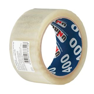 UNIBOB / Adhesive tape 400 transparent packaging, individual label 48 mm x 66 m, thickness 40 microns
