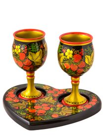 Set 'For Two' 3 items with Khokhloma painting