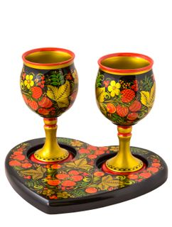 """Set """"For Two"""" 3 items with Khokhloma painting"""