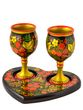 Set 'For Two' 3 items with Khokhloma painting - view 1