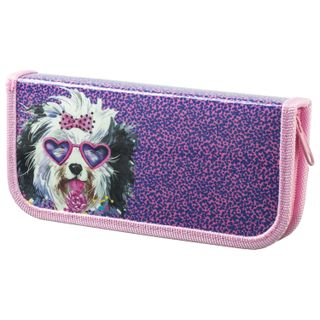 Pencil case 1 compartment BRAUBERG, for students of elementary school laminated cardboard, Pink 19х9 cm