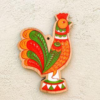 "Christmas tree toy ""Cock"" (Boretskaya painting)"
