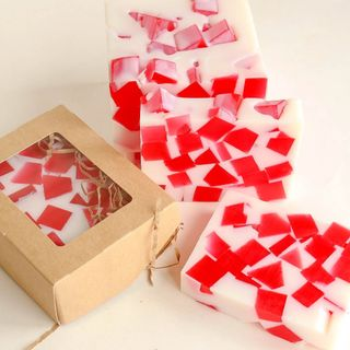 Strawberry Marshmallow whetstone 500g - handmade soap