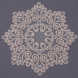 Doily lace with decorative pattern