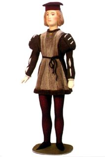 Doll gift. Young man. 15th century. Italy.