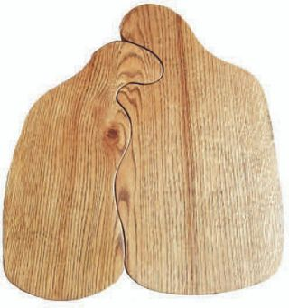 "3/4 Arshina / Set of boards ""Love"" 350 x 400 x 26 mm"
