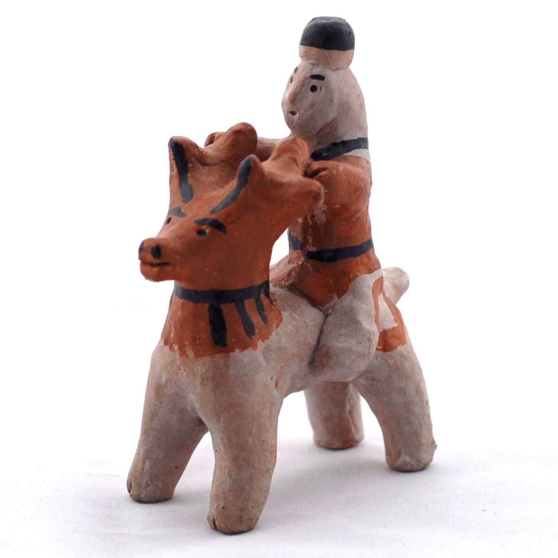 Kargopol clay toys Vershnik on deer