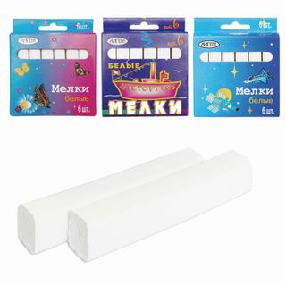 Chalk white ALGEM, set of 6 PCs., square, package of cuts