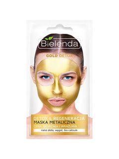 Cleaning a metal mask for Mature and sensitive skin , BIELENDA GOLD DETOX, 8 g