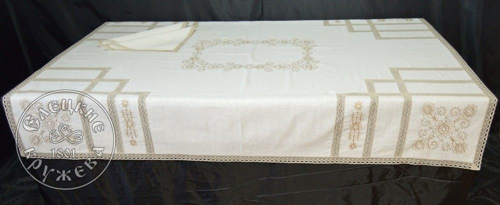 "Yelets lace / Table set ""Tablecloth and napkins"" С534"