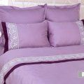 Bedding sets of mako-sateen with lace