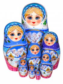 Khokhloma painting / Author's Matryoshka 8 dolls