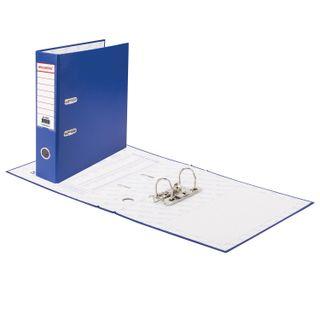 Folder-Registrar BRAUBERG with PVC coating, 70 mm, blue (double life)